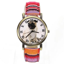 Load image into Gallery viewer, Colourful Fashion Pug Watch