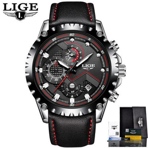 LIGE Fashion Sport Quartz Waterproof Watch