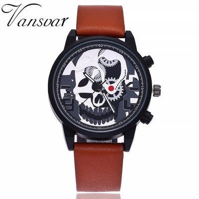 Skeleton Skull Quartz Watch