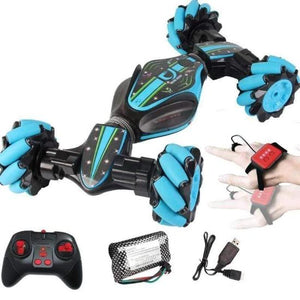 RC Cars Diyos™ Gesture Sensing Stunt Car BLUE - DiyosWorld
