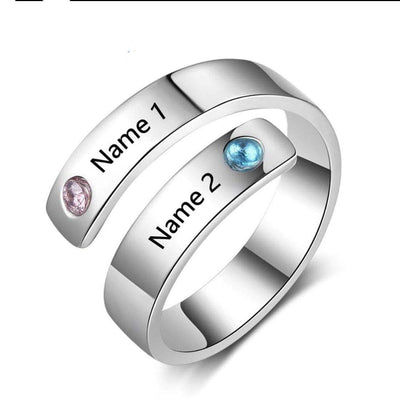 DIYOS Personalised Name & Birthstone Ring