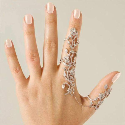 Rings Shiny Crystal Finger Art Ring - DiyosWorld