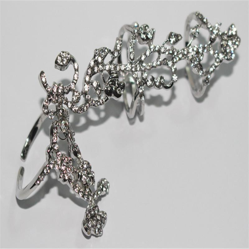 Shiny Crystal Finger Art Ring