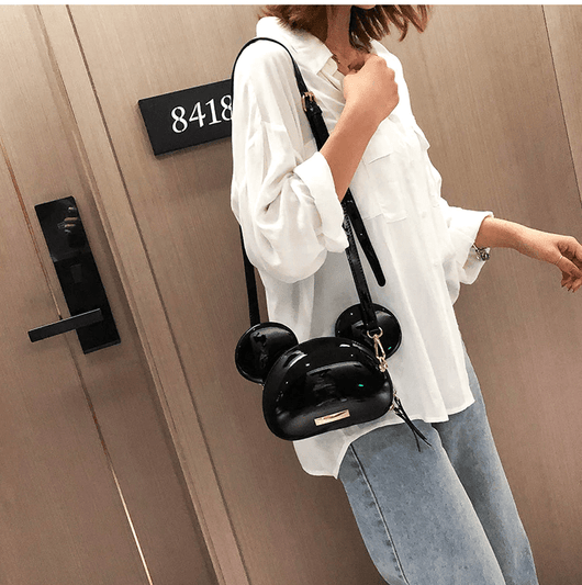 Shoulder Bags Exotic Cartoon Cross-Body Bag Black - DiyosWorld