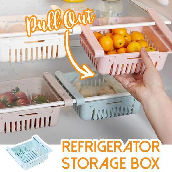 [ SET OF 2 PIECES] Adjustable Pull-Out Drawer Organizer Refrigerator/Home