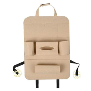 Stowing Tidying Car Back Seat Organizer Beige - DiyosWorld
