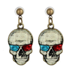 Stud Earrings Unique Skull Earring A1 - DiyosWorld