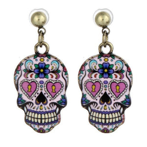 Stud Earrings Unique Skull Earring A3 - DiyosWorld