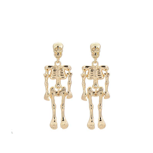 Antique Vintage Punk Skeleton Skull Earrings