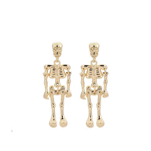 Stud Earrings Antique Vintage Punk Skeleton Skull Earrings - DiyosWorld