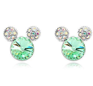 Stud Earrings Rhinestone Crystal Small Stud Earrings Green - DiyosWorld