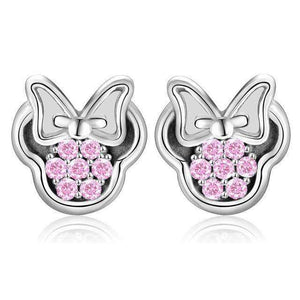 Stud Earrings Luxury Cartoon Stud Earrings Pink - DiyosWorld