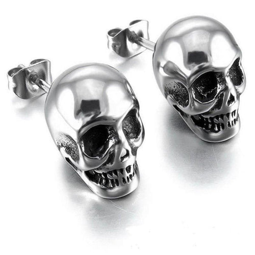 Punk Skull Unisex Earrings