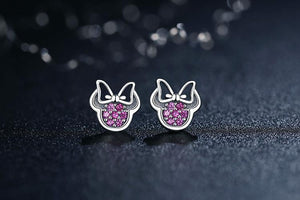 Stud Earrings REAL 925 Sterling Silver Cartoon Stud Earrings - DiyosWorld