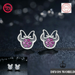Load image into Gallery viewer, Stud Earrings REAL 925 Sterling Silver Cartoon Stud Earrings - DiyosWorld