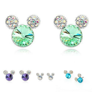 Stud Earrings Rhinestone Crystal Small Stud Earrings - DiyosWorld