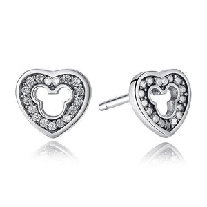 Stud Earrings REAL 925 Sterling Silver Cartoon Stud Earrings Silver - DiyosWorld