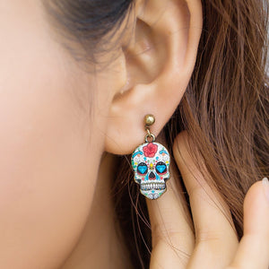 Stud Earrings Unique Skull Earring - DiyosWorld