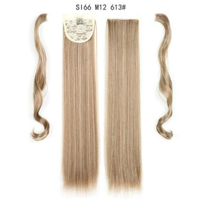 Synthetic Ponytails Ponytail Hair Extension SI66 M12 613 - DiyosWorld