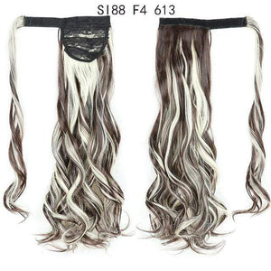 Synthetic Ponytails Ponytail Hair Extension SI88 F4 613 - DiyosWorld