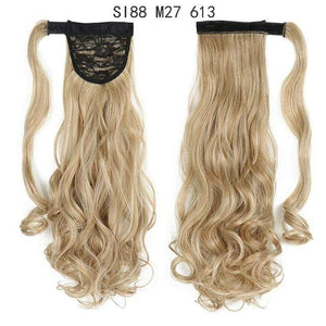 Synthetic Ponytails Ponytail Hair Extension SI88 M27 613 - DiyosWorld