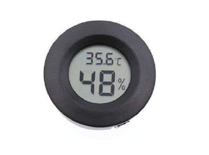Temperature Instruments Mini Digital LCD Hygrometer/ Humidity Meter Black - DiyosWorld