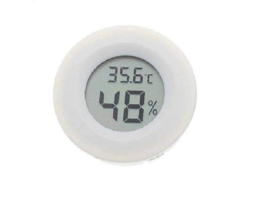 Temperature Instruments Mini Digital LCD Hygrometer/ Humidity Meter White - DiyosWorld