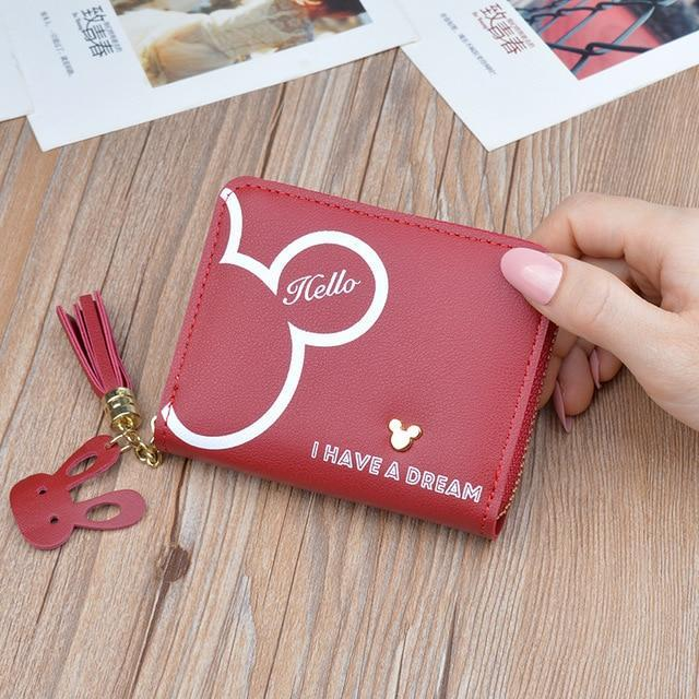Wallets Iconic Cartoon Dream Wallet Dark Red - DiyosWorld