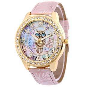 watches Luxury Designer Owl Watch Pink - DiyosWorld