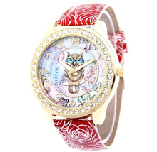 Load image into Gallery viewer, Luxury Designer Owl Watch