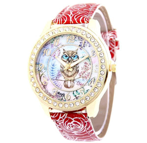 watches Luxury Designer Owl Watch Red - DiyosWorld