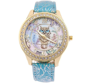watches Luxury Designer Owl Watch Blue - DiyosWorld