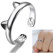 Load image into Gallery viewer, Wedding/Engagement/Party Wear/Daily Wear Ring - Cat Ear Claw 925 Silver Open Ring