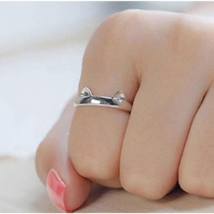 Wedding/Engagement/Party Wear/Daily Wear Ring - Cat Ear Claw 925 Silver Open Ring