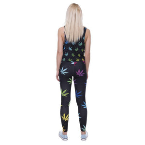 Weeds Printed Leggins For Women