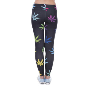 Weeds Printed Leggins for Women - DiyosWorld