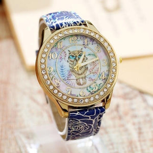 Women's Watches Super Cute Owl Design Watch Blue - DiyosWorld