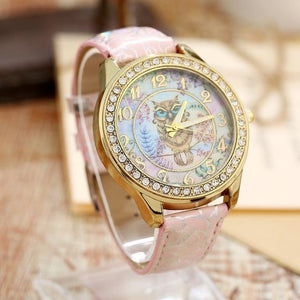 Women's Watches Super Cute Owl Design Watch Pink - DiyosWorld