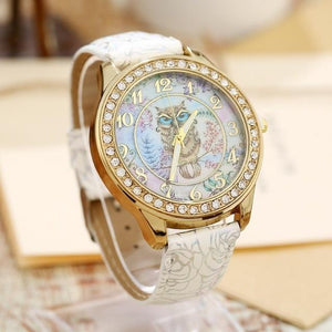 Women's Watches Super Cute Owl Design Watch White - DiyosWorld