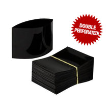 Black Shrink Bands 70mm W x 53mm H with Double Perforation for Up to 1.5 inch Wide-Mouth Bottles
