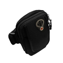 Universal Neoprene Black Sports Armband with Headphone Slots fits Mobile Up to 6.5""
