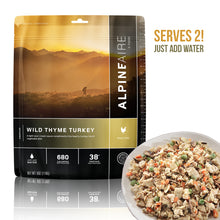 AlpineAire Wild Thyme Turkey High Quality Freeze Dried Food / Instant Meal – 2 Servings - FREE U.S. SHIPPING!