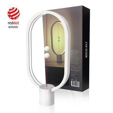 "HENG Balance Lamp 15.75""H Ultra Modern Ellipse Lamp - Wyoming White"
