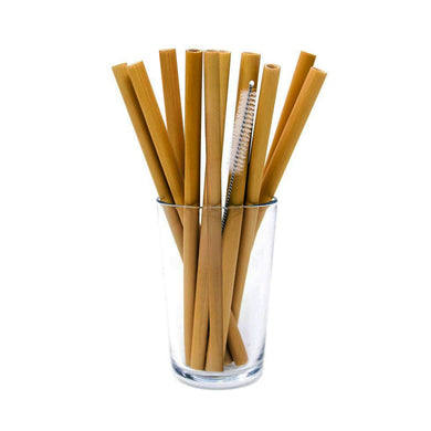 Kizmos Bamboo Straw 13-Piece Set