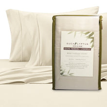 Eucalyptus Origins 100% Tencel Lyocell 600-Thread-Count Queen, Standard Pillowcases in Ivory (Set of 2)