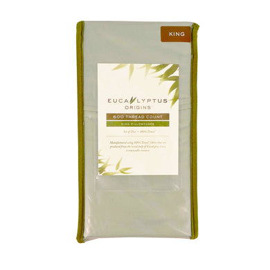 Eucalyptus Origins 100% Tencel Lyocell 600-Thread-Count King Pillowcases in Light Green (Set of 2)