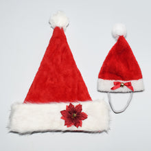 Christmas Plush Jingle Bells Santa Hat for Adult/Teen or Pet