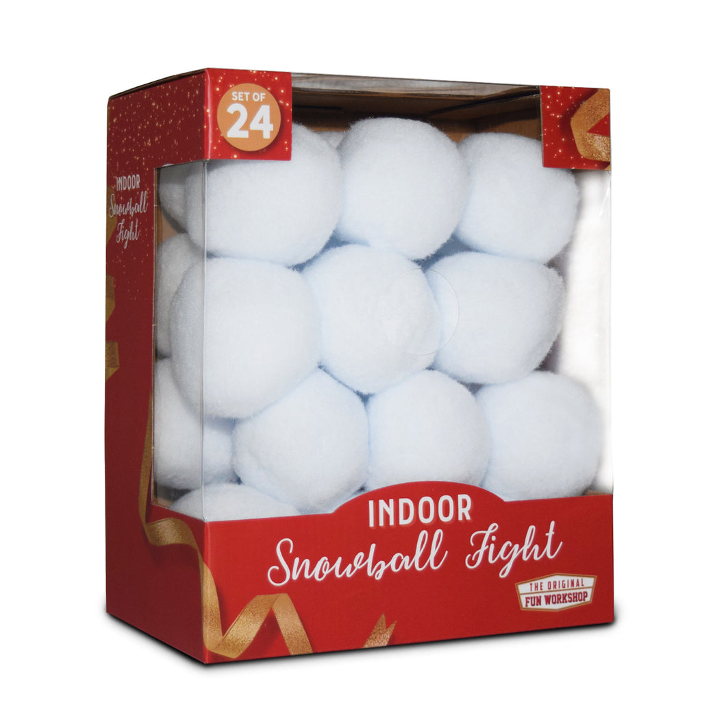 Indoor Snowball Fight Set of 24 Snowballs