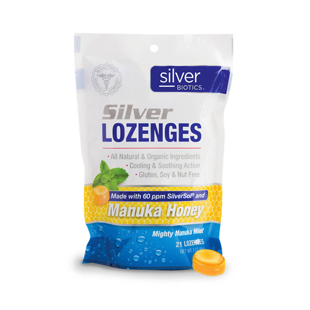 Silver Biotics 60PPM Silver Lozenges for Immune Support