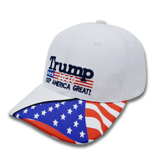 Trump 2020 ~ Keep America Great Again & Flag <p> Adjustable Embroidered Hat
